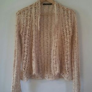 Anthropologie Hazel Macrame Blazer Top